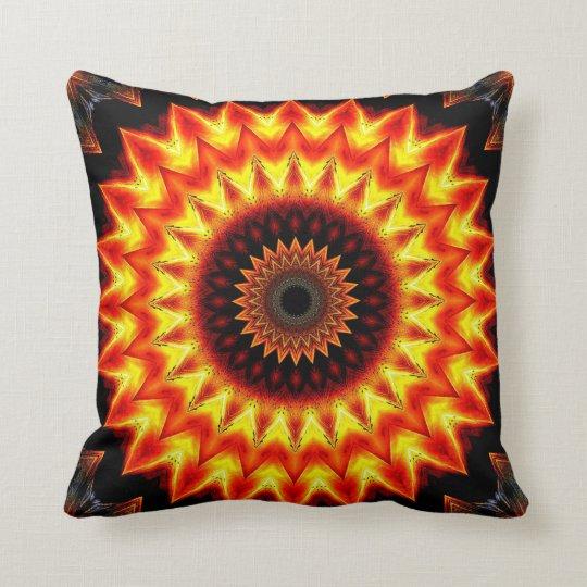 Sunset Mandala 2 Throw Pillow