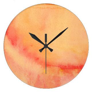 Sunset Marbled Large Clock