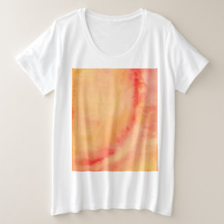 Sunset Marbled Plus Size T-Shirt