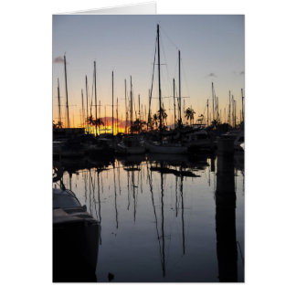 Sunset Masts Card