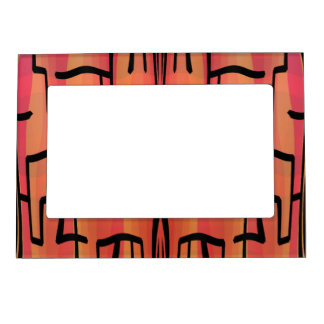 Sunset Maze - Abstract Frame Magnet
