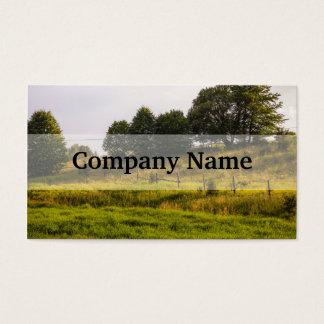 Sunset Meadow Landscape Photograph Business Card