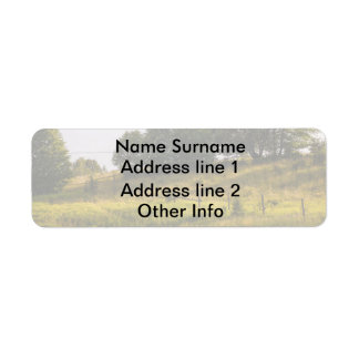 Sunset Meadow Landscape Photograph Return Address Label