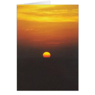 Sunset - Mediterranean Sea Card