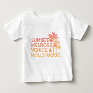 Sunset & Melrose & Venice and Hollywood Baby T-Shirt