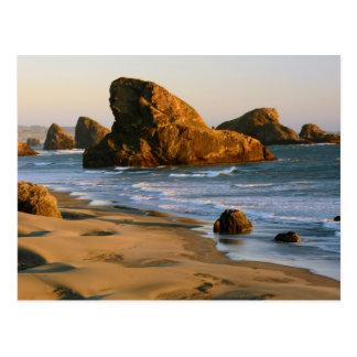 Sunset, Meyers Beach, Oregon, USA Postcard