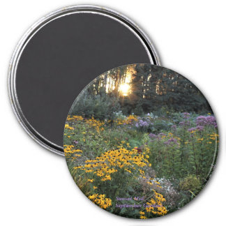 Sunset Mid-September Gardens Magnet