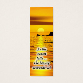 Sunset Mini Bookmark Mini Business Card