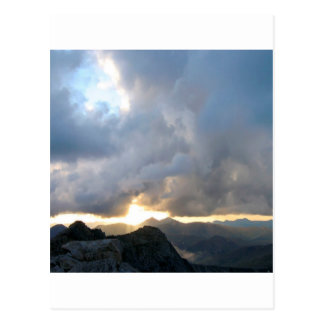 Sunset Mist Of Light Postcard