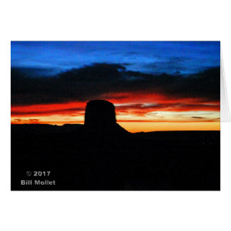 Sunset, Monument Valley, UT Card
