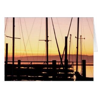 Sunset Morro Bay Card