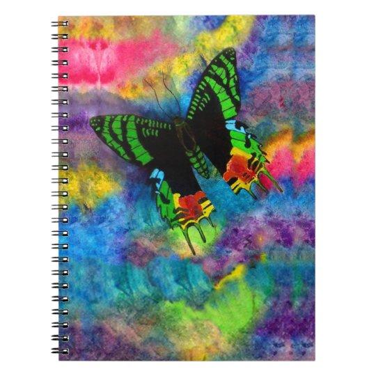 Sunset Moth 6.5 x 8.75 Notebooks
