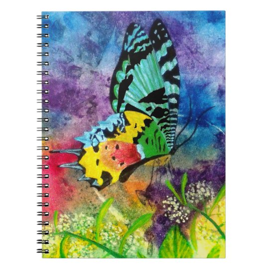 Sunset Moth Profile 6.5 x 8.75 Spiral Notebook