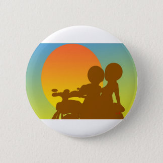 sunset motorcycle 2 inch round button