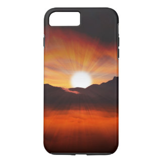 Sunset Mountain Silhouettes Nature Scenery iPhone 7 Plus Case