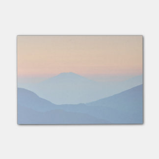 Sunset Mountains Abstract Landscape Post-it Notes