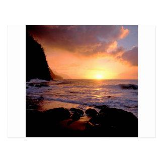 Sunset Na Pali Coast Hawaii Postcard