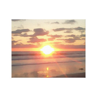 Sunset near Pacific Beach Canvas Print