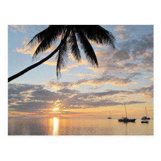 Sunset near Robinson Crusoe Island Postcard