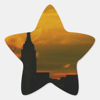 Sunset New York City Star Stickers