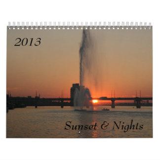 Sunset & Nights, 2013 Wall Calendars