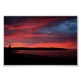 Sunset Nova Scotia Poster