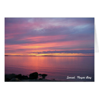 Sunset, Noyac Bay Card
