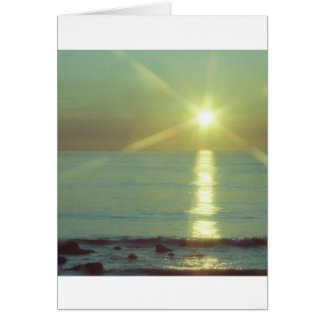 """Sunset Ocean"" All-occasion greeting card"