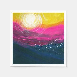 Sunset Ocean Disposable Napkins