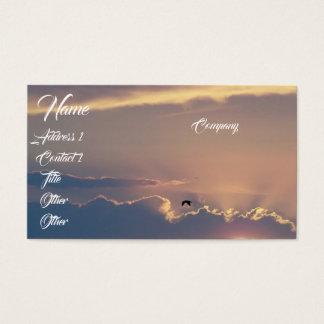 Sunset Ocean Seagull Beach Business Card