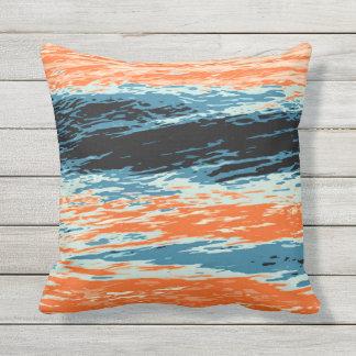 Sunset/Ocean/Wave/Sea Outdoor Pillow