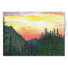 Sunset of Oregon forest Card