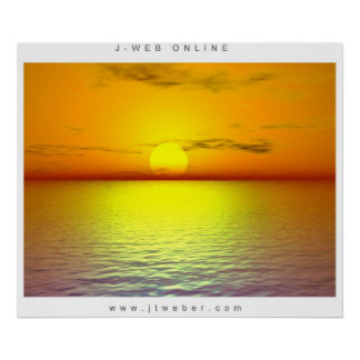 Sunset of the Sea Poster