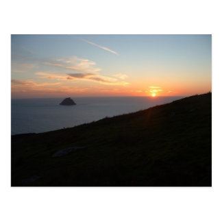 Sunset off the Blasket Islands Postcard