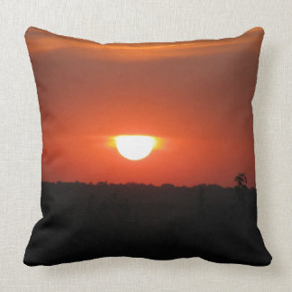 Sunset Omaha Throw Pillow