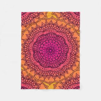 Sunset Ombre Doodle Fleece Blanket