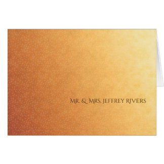 Sunset Ombre Gradient Simple Thank You Card
