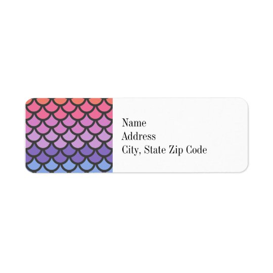 Sunset Ombre Mermaid Scales Return Address Label