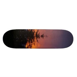 Sunset on a board. skateboards
