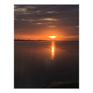 Sunset on a long summer day letterhead