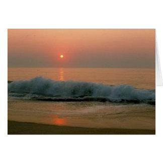 Sunset on a N. Carolina Beach Card