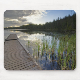 Sunset On A Small Lake Mouse Pad