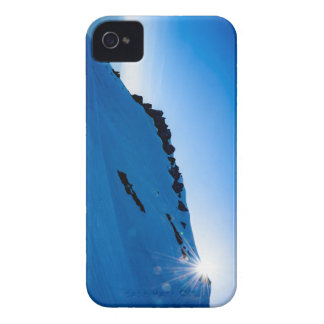 Sunset on a snowy mountain iPhone 4 cases