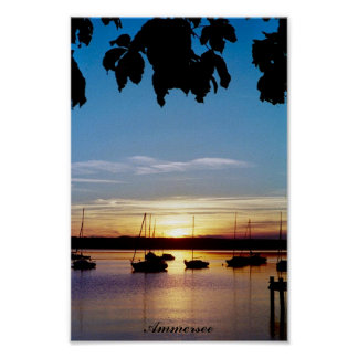 Sunset on Ammersee Poster