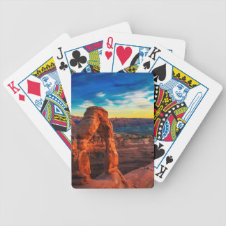 Sunset On Arches Park Bicycle Playing Cards