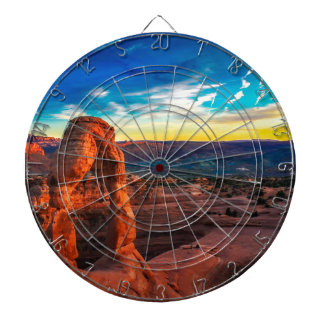 Sunset On Arches Park Dartboard