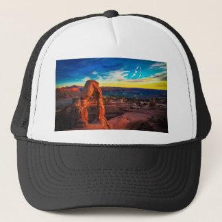 Sunset On Arches Park Trucker Hat