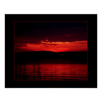 Sunset on Balaton Poster