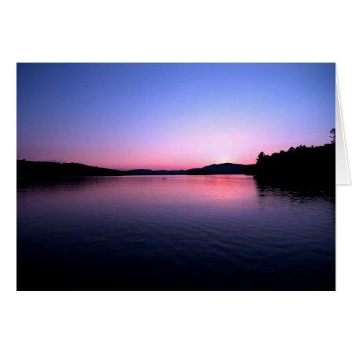 Sunset on Blue Mountain Lake Cards
