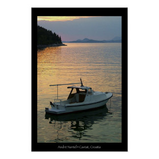 Sunset on Cavtat Bay Poster